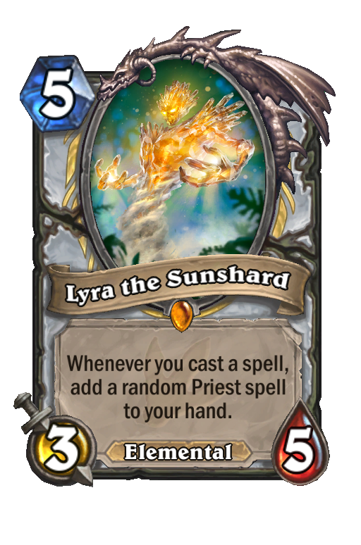 Lyra the Sunshard Hearthstone kártya