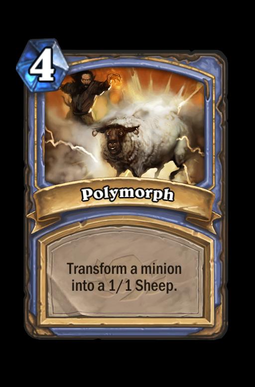 Polymorph Hearthstone kártya