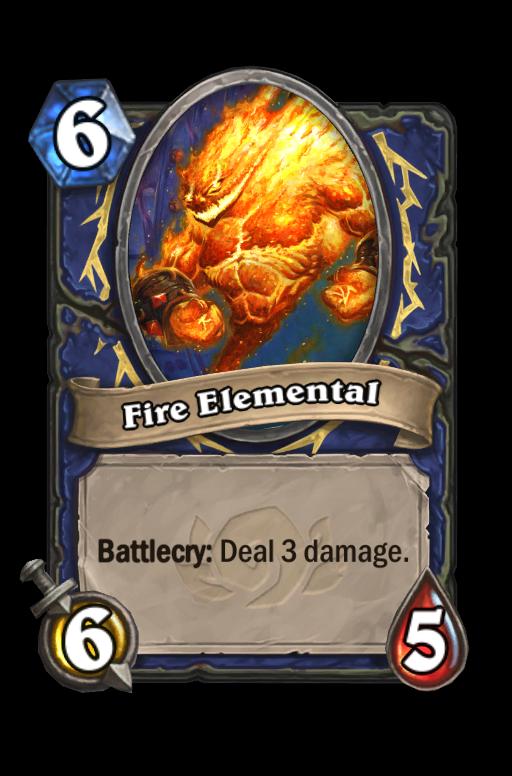 Fire Elemental Hearthstone kártya