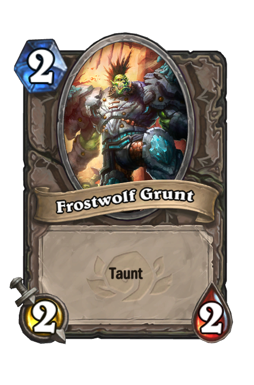 Frostwolf Grunt Hearthstone kártya