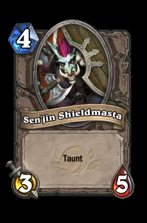 Sen'jin Shieldmasta Hearthstone kártya