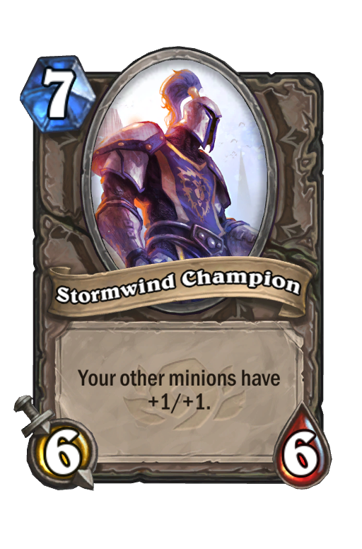 Stormwind Champion Hearthstone kártya