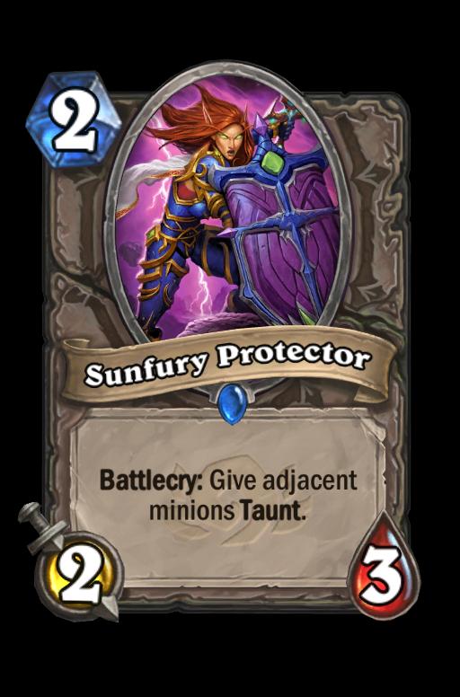 Sunfury Protector Hearthstone kártya