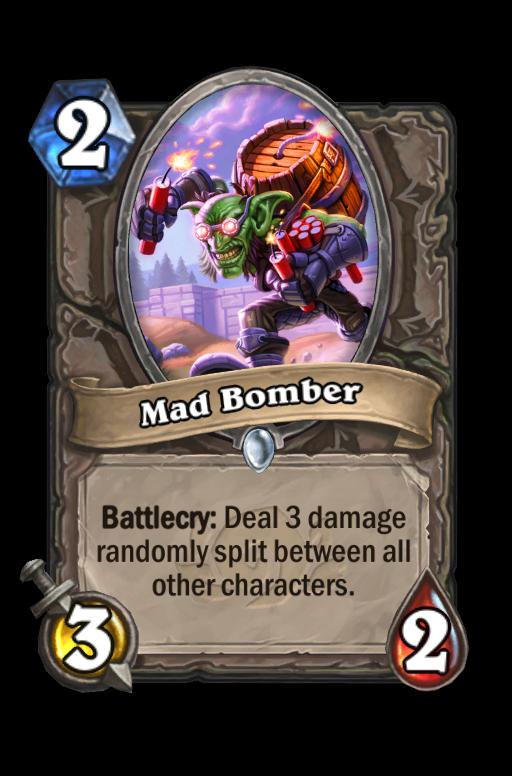 Mad Bomber Hearthstone kártya