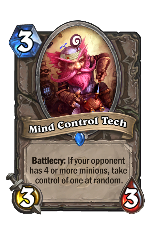 Mind Control Tech Hearthstone kártya