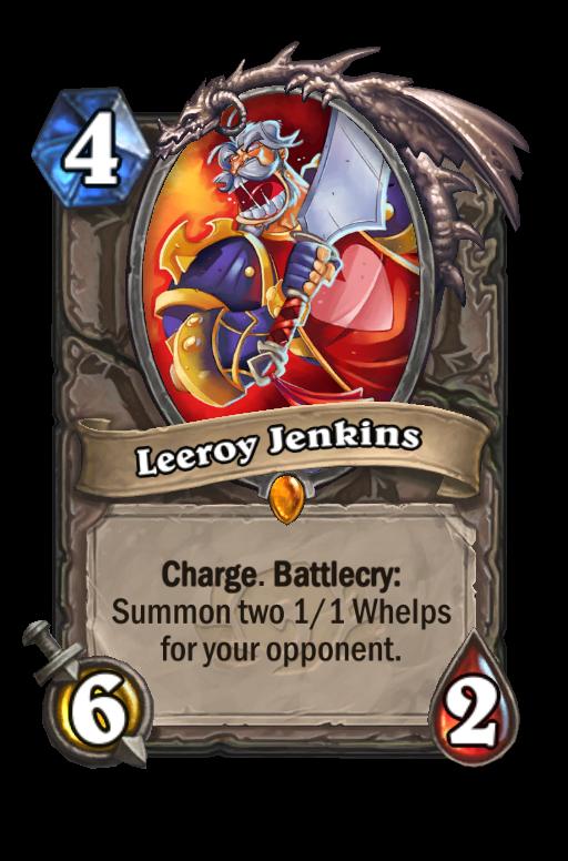 Leeroy Jenkins Hearthstone kártya