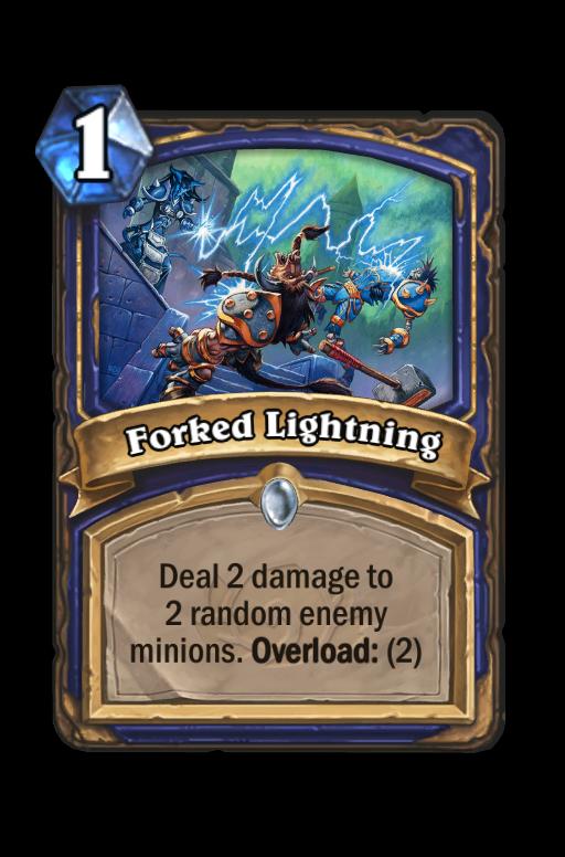 Forked Lightning Hearthstone kártya