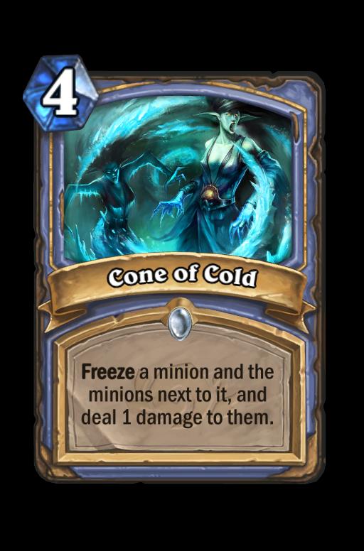 Cone of Cold Hearthstone kártya