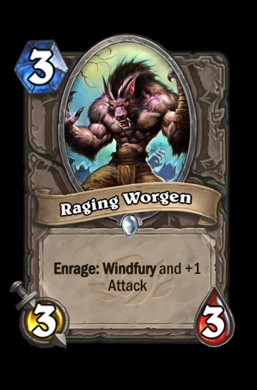 Raging Worgen Hearthstone kártya