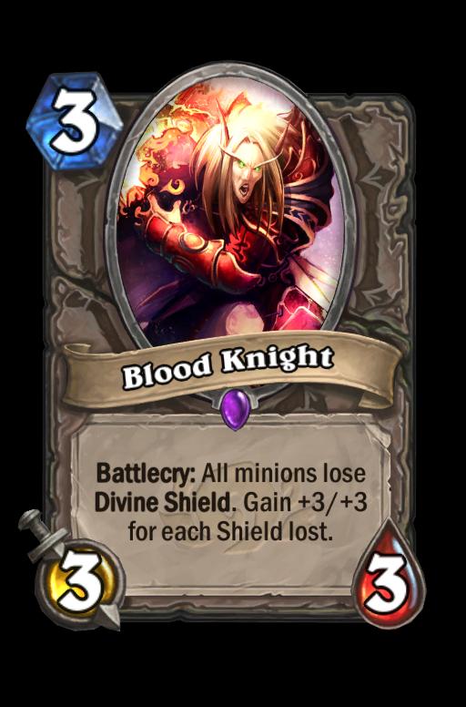 Blood Knight Hearthstone kártya
