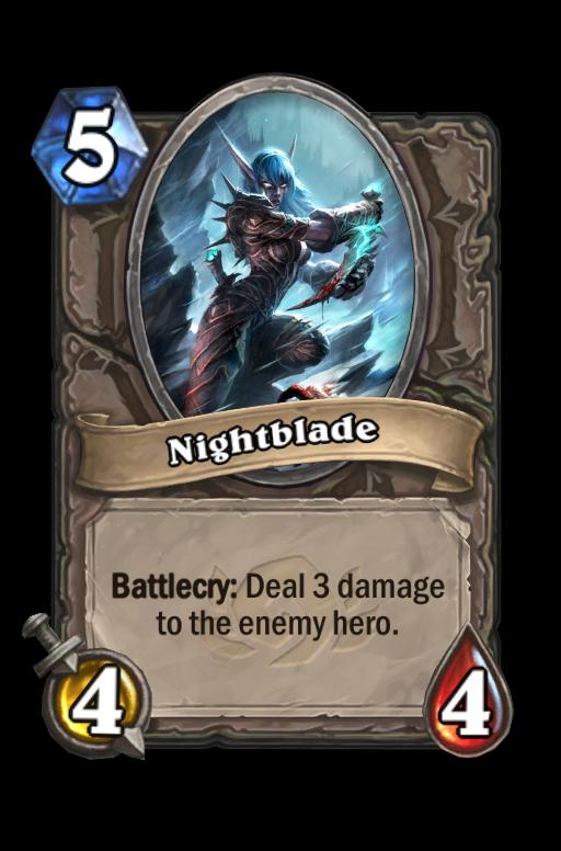 Nightblade Hearthstone kártya