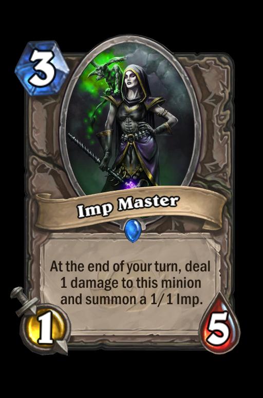 Imp Master Hearthstone kártya