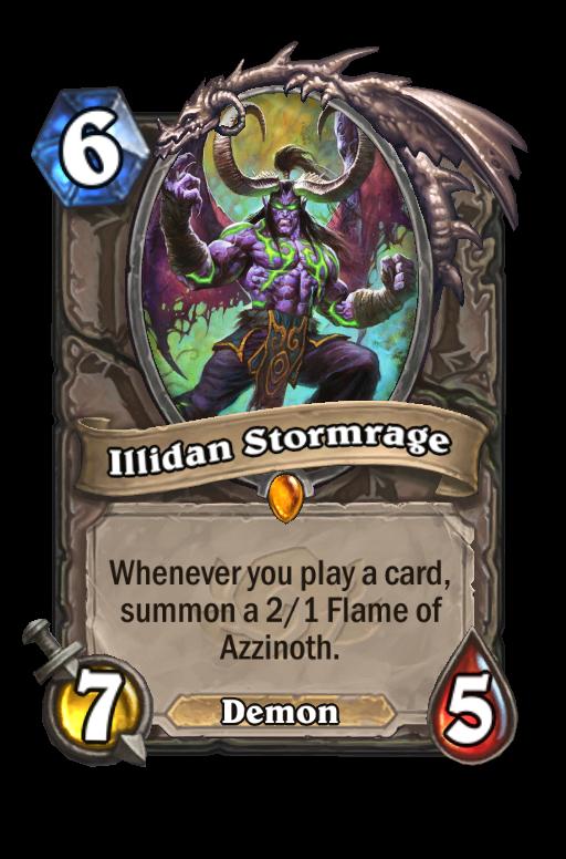 Illidan Stormrage Hearthstone kártya