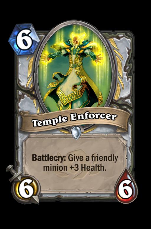 Temple Enforcer Hearthstone kártya