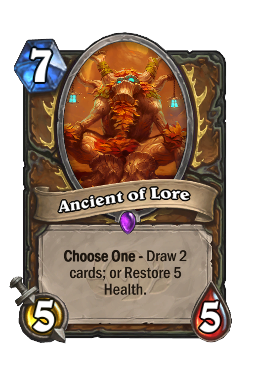 Ancient of Lore Hearthstone kártya