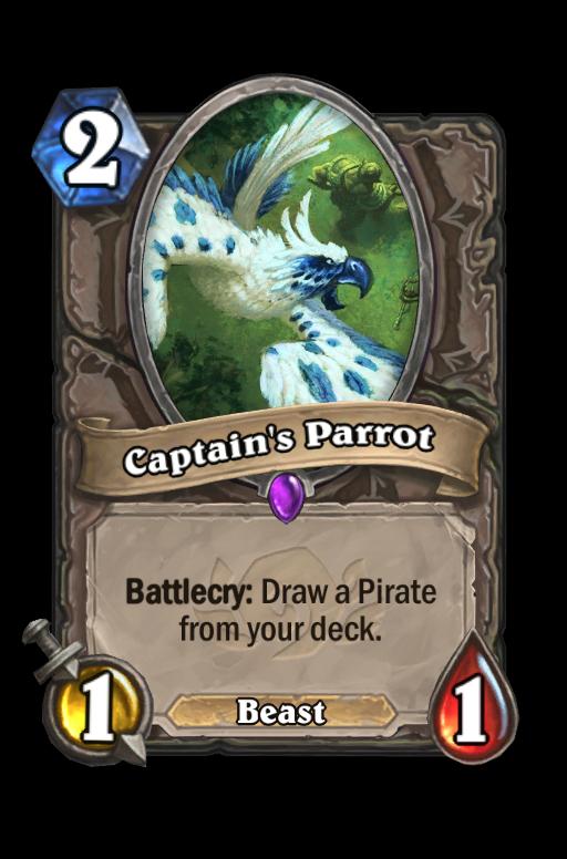 Captain's Parrot Hearthstone kártya