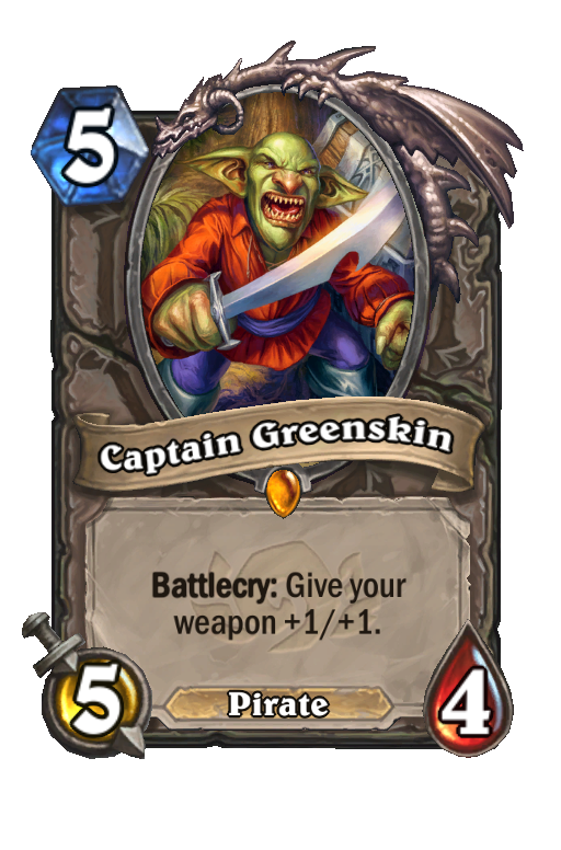 Captain Greenskin Hearthstone kártya