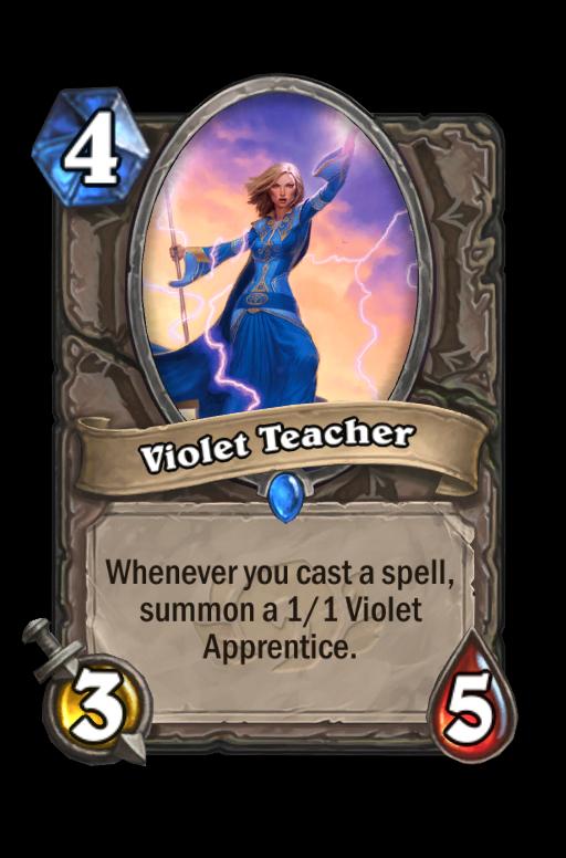 Violet Teacher Hearthstone kártya