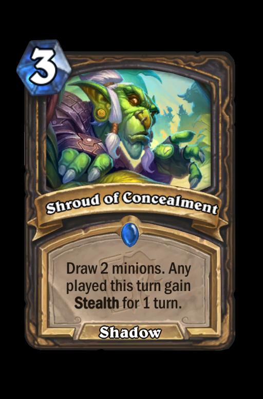 Shroud of Concealment Hearthstone kártya