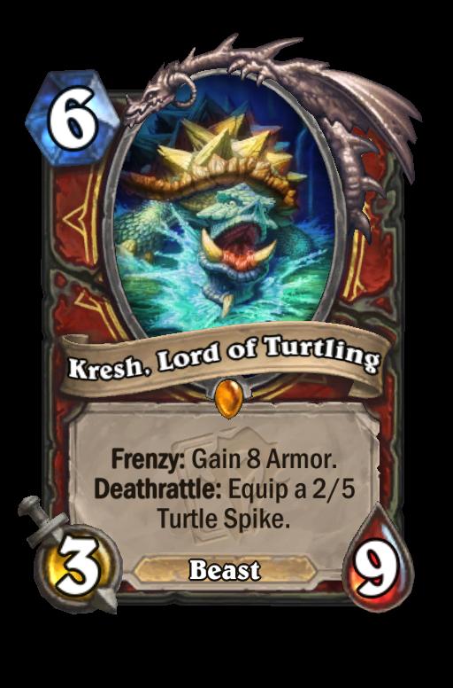 Kresh, Lord of Turtling Hearthstone kártya