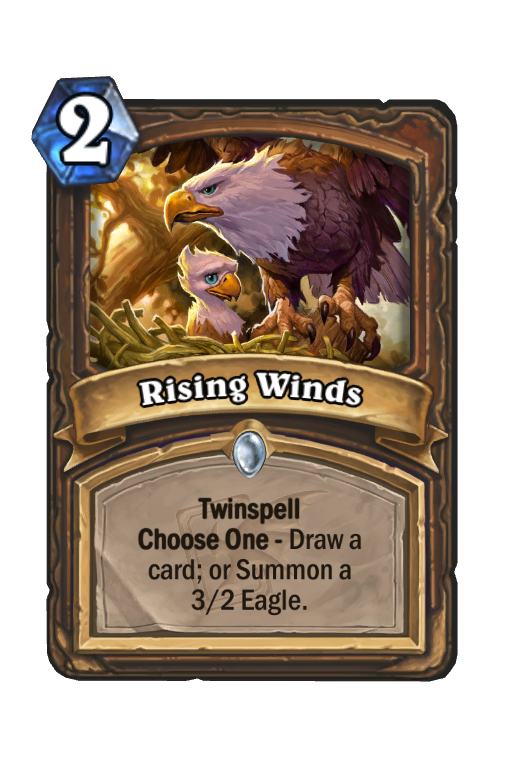 Rising Winds Hearthstone kártya