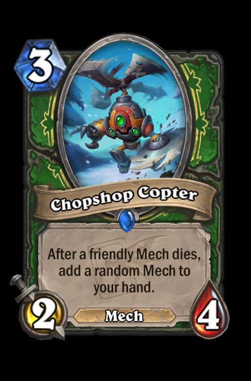 Chopshop Copter Hearthstone kártya
