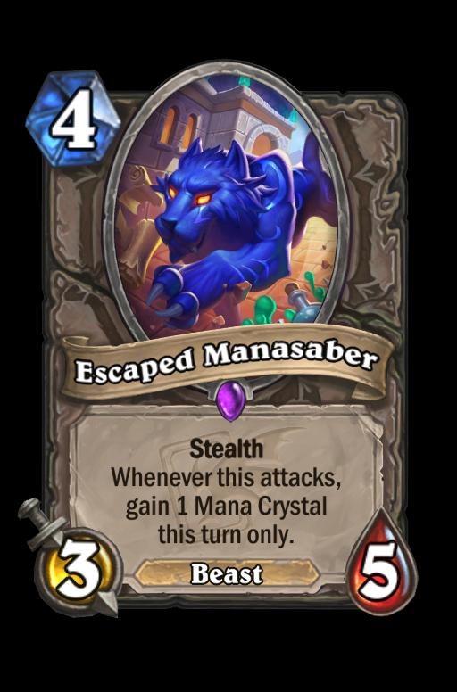 Escaped Manasaber Hearthstone kártya