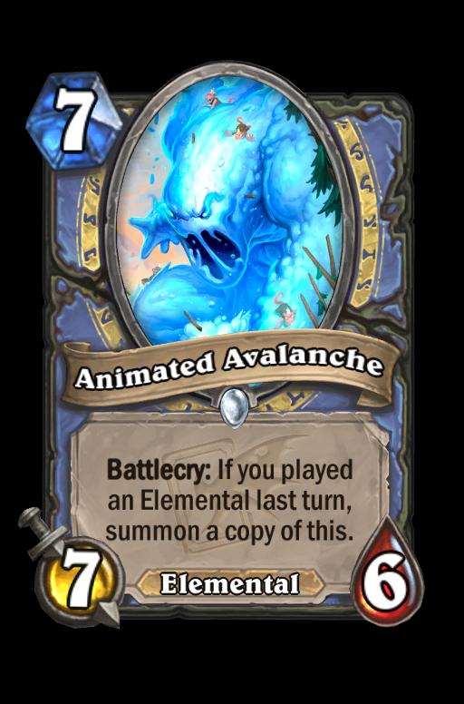 Animated Avalanche Hearthstone kártya