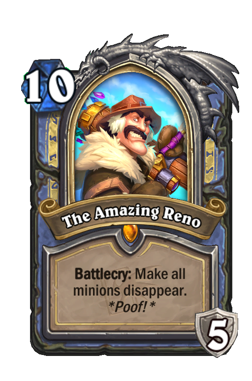 The Amazing Reno Hearthstone kártya