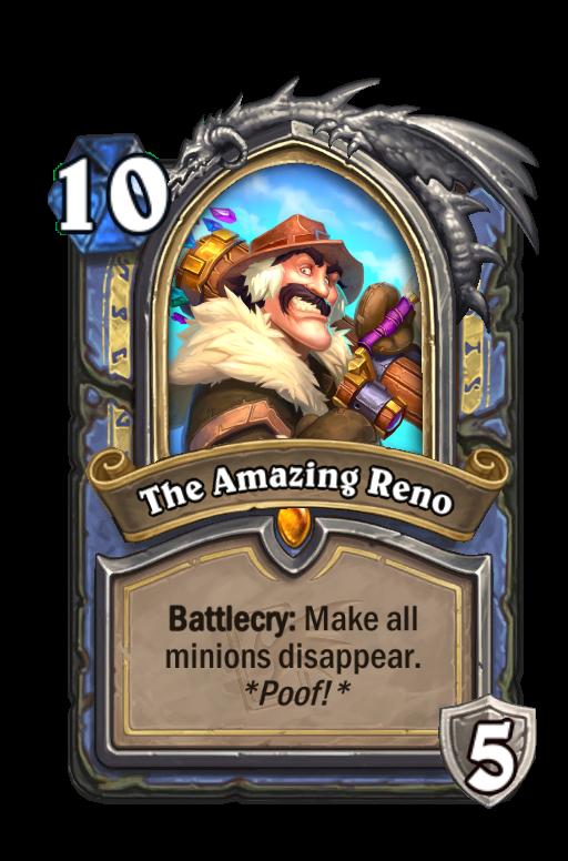 The Amazing Reno Hearthstone kártya