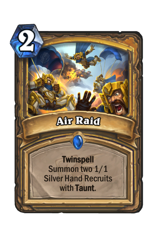 Air Raid Hearthstone kártya