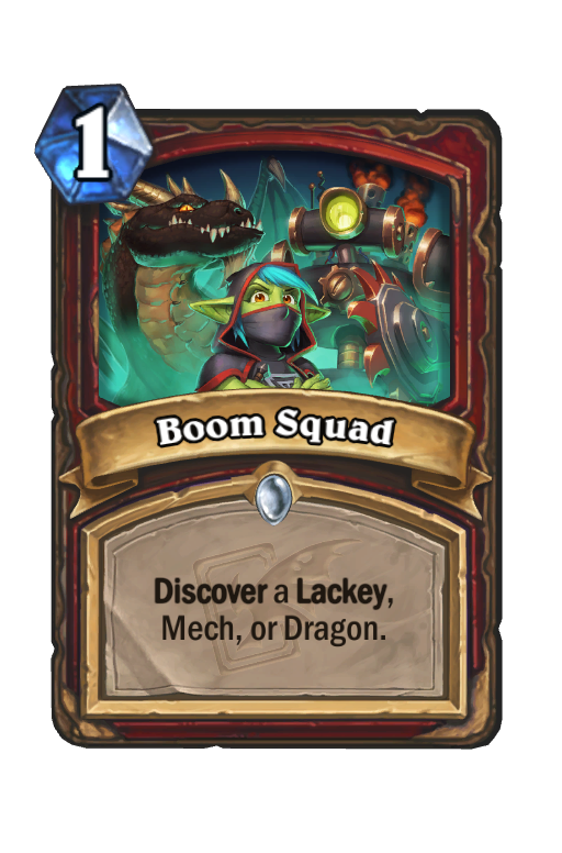 Boom Squad Hearthstone kártya