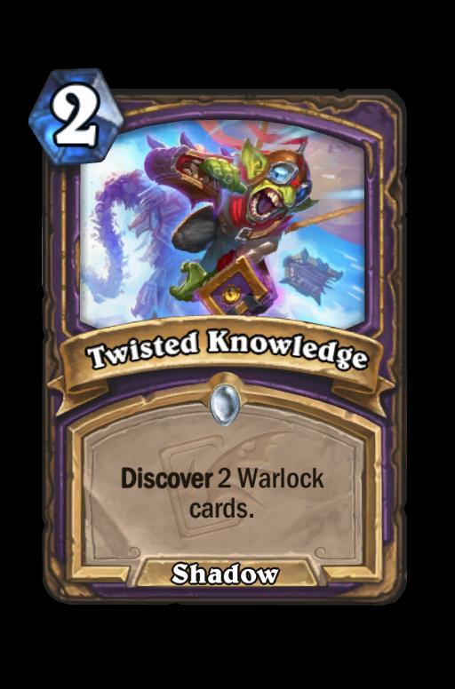 Twisted Knowledge Hearthstone kártya