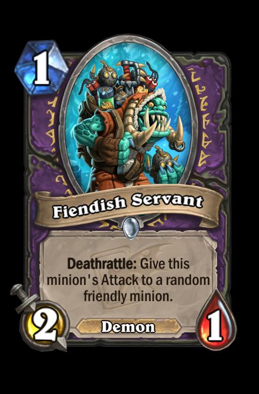 Fiendish Servant Hearthstone kártya