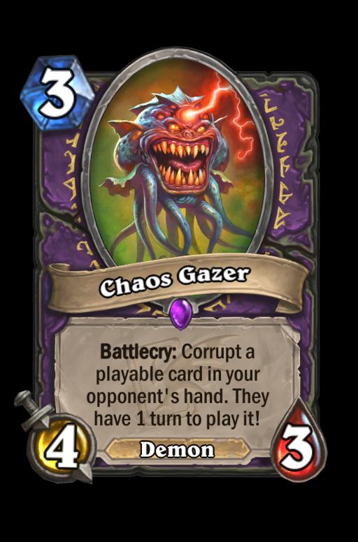 Chaos Gazer Hearthstone kártya