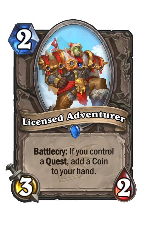 Licensed Adventurer Hearthstone kártya
