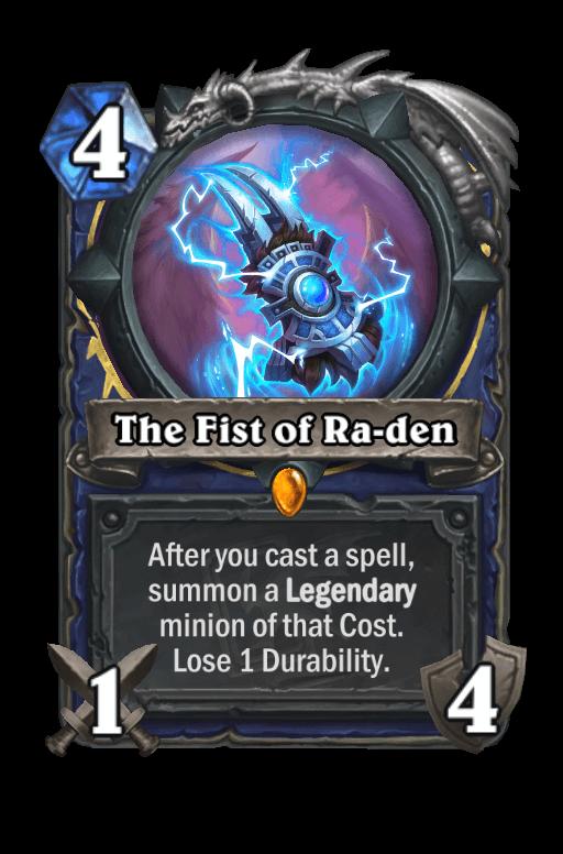 The Fist of Ra-den Hearthstone kártya