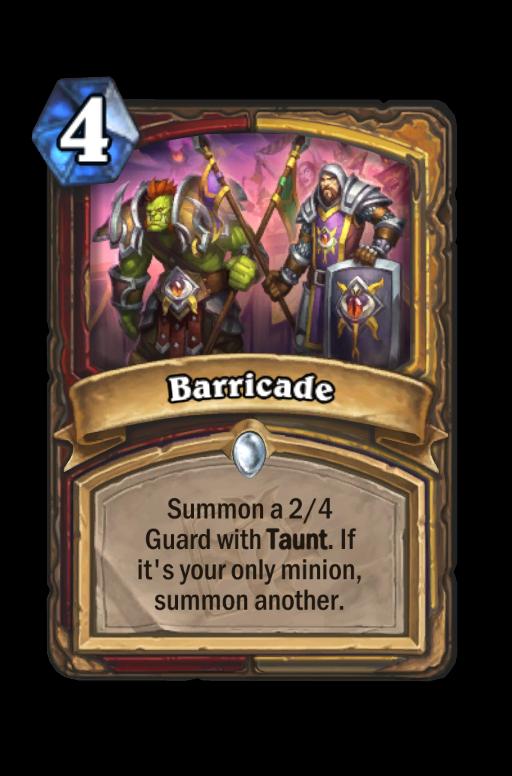 Barricade Hearthstone kártya