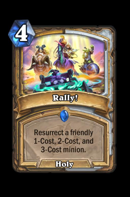 Rally! Hearthstone kártya