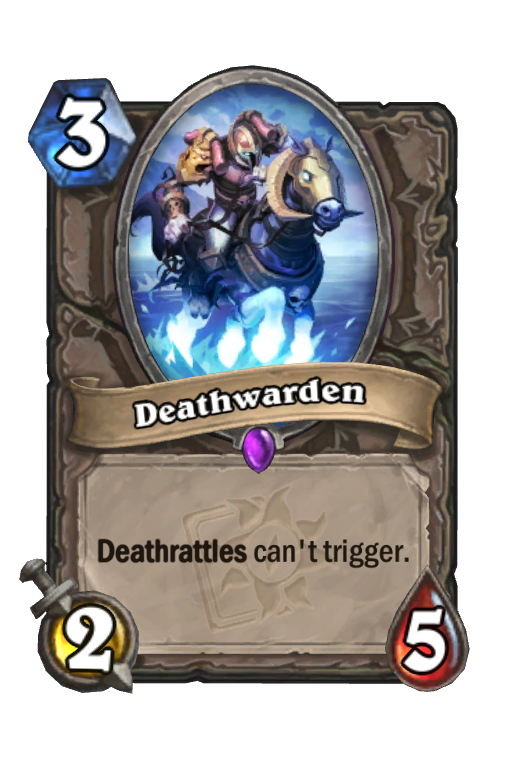 Deathwarden Hearthstone kártya