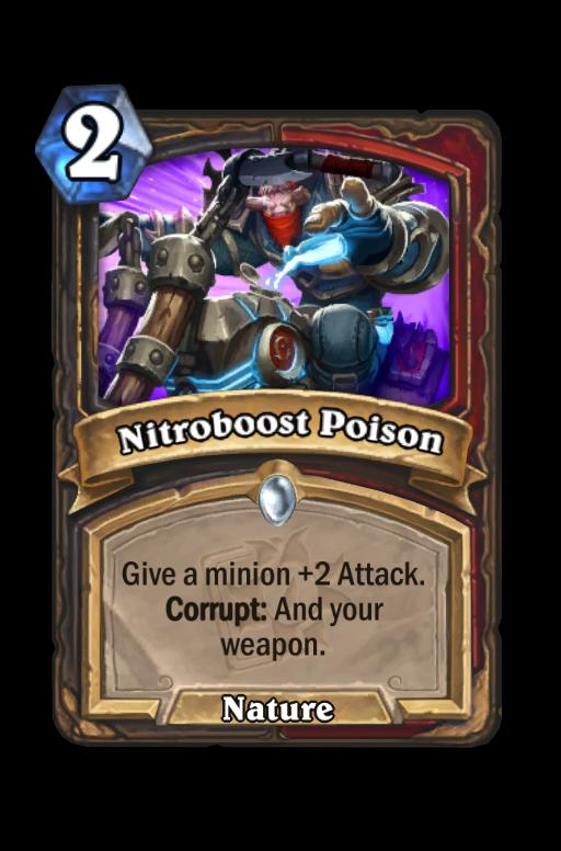 Nitroboost Poison Hearthstone kártya