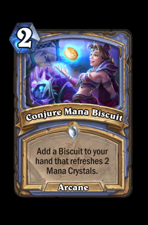 Conjure Mana Biscuit Hearthstone kártya