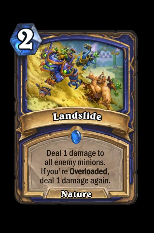 Landslide Hearthstone kártya