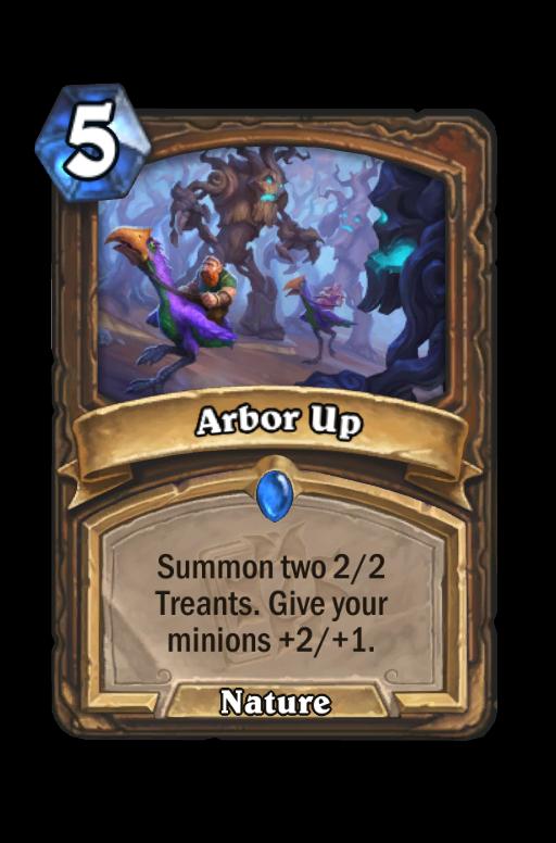 Arbor Up Hearthstone kártya