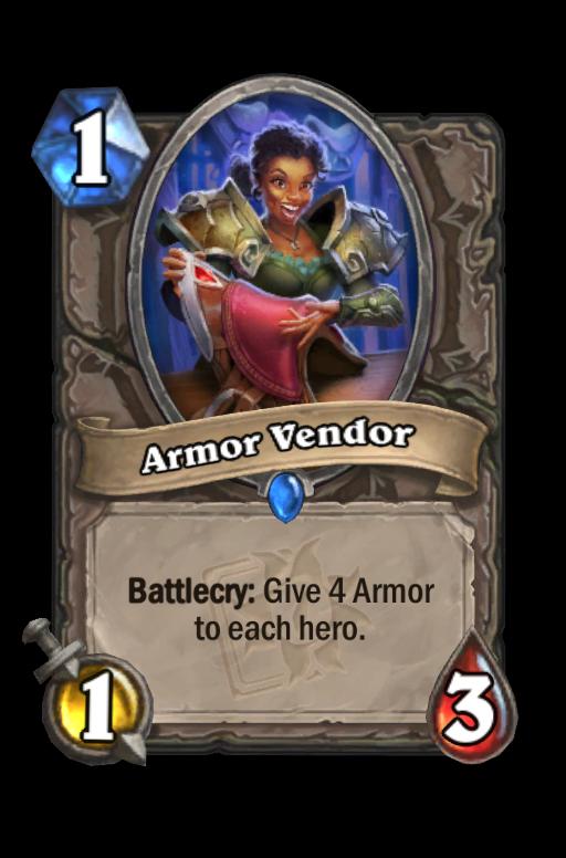 Armor Vendor Hearthstone kártya