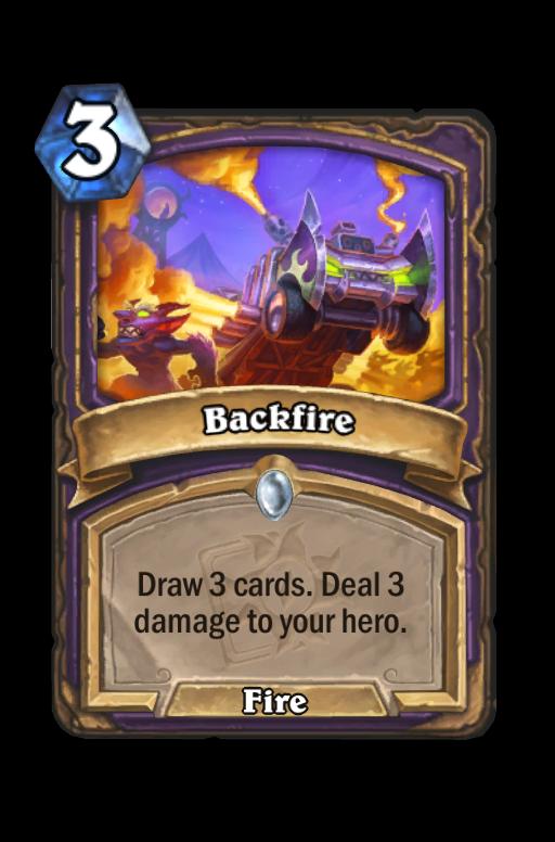 Backfire Hearthstone kártya