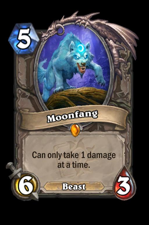 Moonfang Hearthstone kártya