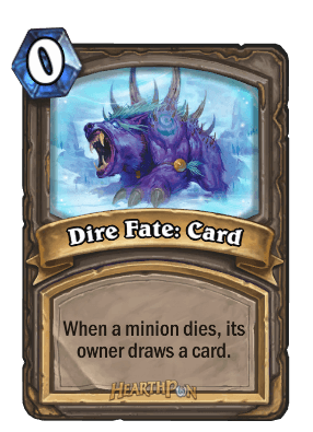 dire fate kártya