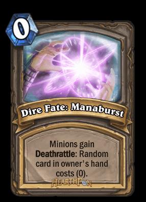 dire fate manaburst kártya