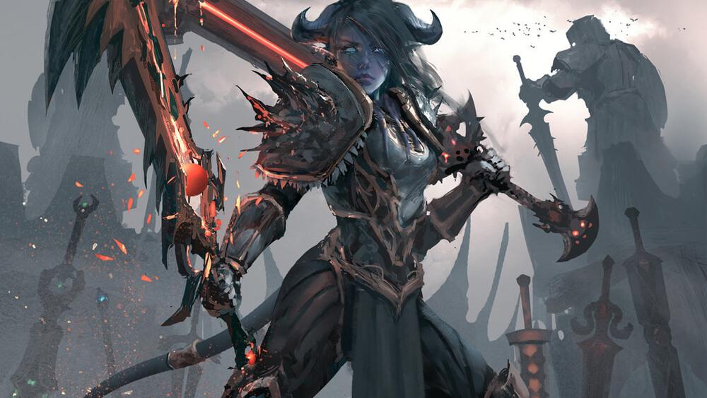 warrior artwork